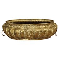 A Large Antique Brass Jardiniere from France, Circa 1860