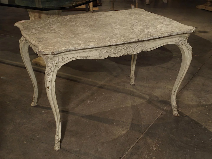 Painted Antique Louis Xv Style Center