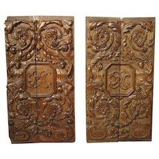 Pair of 17th Century Renaissance Style Carved Panels from France
