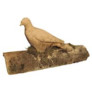 Antique Terra Cotta Roof Tile with Dove from the South of France