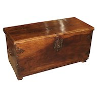 Circa 1650 Walnut Wood Trunk from Spain