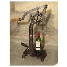 Antique Cast Iron Wine Corking Machine from France, Circa 1900
