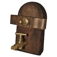 Antique Wine Cask Access Door, France Circa 1890