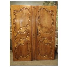 Pair of 18th Century Armoire Doors from Arles France