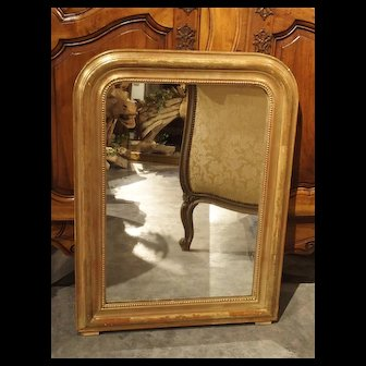 Antique Giltwood Louis Philippe Mirror from France