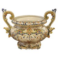 Antique French Urn, Decor Rouen Circa 1910