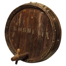 Antique French Wine Barrel Frontage, Bordeaux