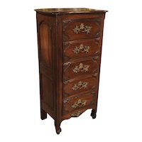 18th Century Walnut and Oak Chiffonier Chest of Drawers from France