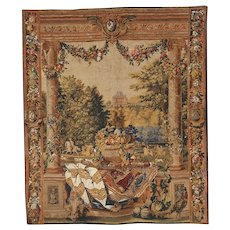 Chateau De Versailles Silkscreen Tapestry Wall Hanging