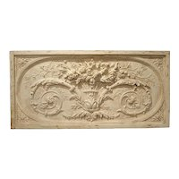 Architectural Plaster and Wood Overdoor Panel from Provence, France