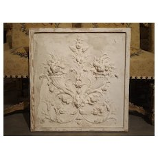 Plaster Bas Relief Cornucopia Panel from France