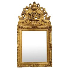 Period French Regence Giltwood Mirror, Circa 1720