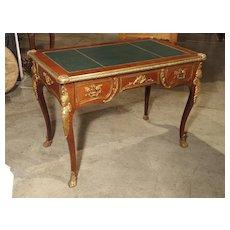Circa 1900 French Louis XV Style Bureau Plat Writing Desk