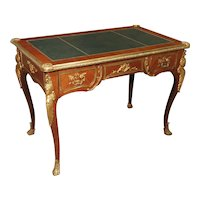 Circa 1900 French Louis XV Style Bureau Plat Writing Desk