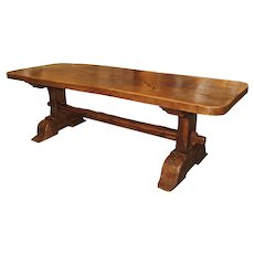 18th Century Single Plank Monastery Table from La Savoie, France