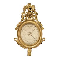 A French, Period Louis XVI Giltwood Barometer, Circa 1780