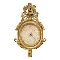 A French, Period Louis XVI Giltwood Barometer, Circa 1780