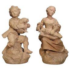 Pair of Antique Terra Cotta Statues, Paris, Circa 1880