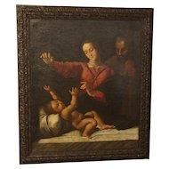 18th Century Oil on Canvas from France, Le Comte De Broissia