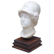 Circa 1800 Italian Marble Head on Wooden Base