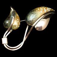 Leaflet Brooch Pin Vintage Leaf Copper Matisse Renoir
