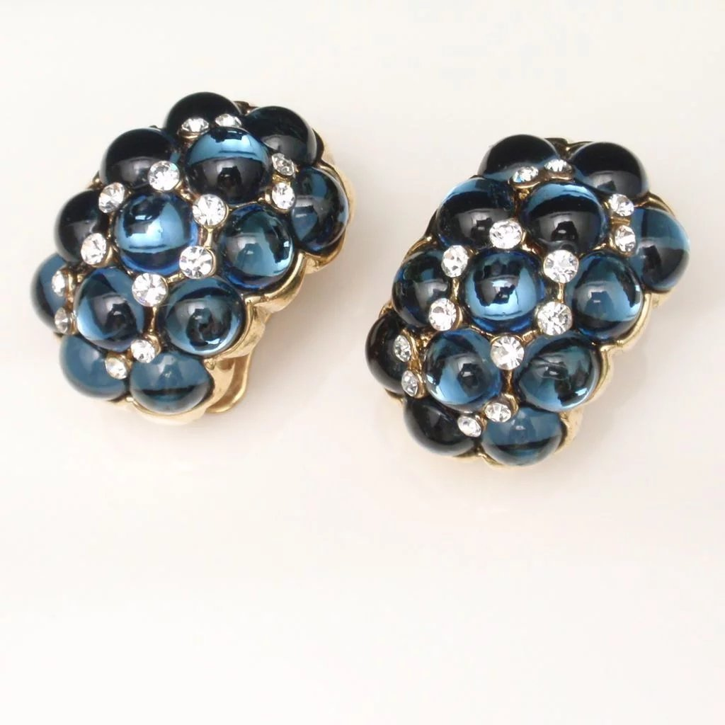 boutique statement vintage black earrings happiness en and pearl