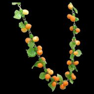 Glass Fruits Necklace Vintage Excellent Condition