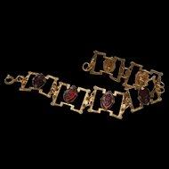 Cameo Segment Bracelet Vintage