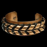 Copper Cuff Bracelet Vintage Renoir