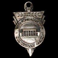 The Hermitage Nashville Tennessee Charm Vintage Sterling Silver B&K Travel Souvenir