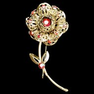 Big Blooming Flower Brooch Pin Sarah Coventry