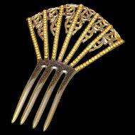 Mantilla Hair Comb with Rhinestones Vintage