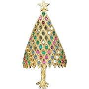 Corocraft Christmas Tree Pin Vintage Xmas