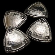 Hammered Sterling Silver Cuff Links Vintage