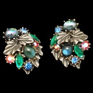 Art Multi-Stone Vintage Earrings