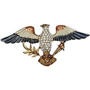 Eagle Pin Vintage Eisenberg Ice USA Patriotic Red White Blue