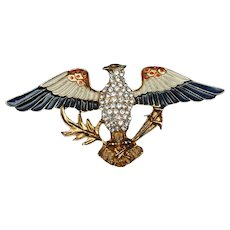 Eagle Pin Vintage Eisenberg Ice USA Patriotic Red White Blue