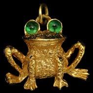Bug-Eyed Frog Pendant Vintage Tancer II