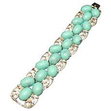 Coro Aqua Stones Bracelet Vintage