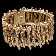 Zentall Hinged Bracelet Vintage Moderne