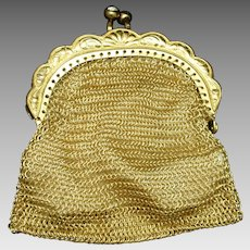 Mesh Change Purse West Germany Vintage