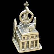St Louis Cathedral New Orleans Charm Vintage Sterling Silver
