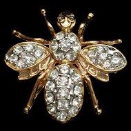 Insect Bug Pin Pendant Rhinestones