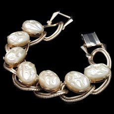 Chunky Imitation Baroque Pearls Bracelet Vintage
