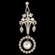 Elegant Drop Rhinestones Pendant