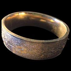 Binder Bros Hinged Bangle Bracelet Gold Filled