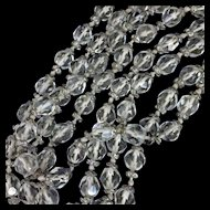 """61"""" Long Faceted Crystal Beads Necklace"""