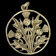 Thistle Charm Vintage Sterling Silver Iona