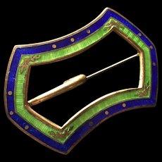Cloisonne Enamel Sash Pin Vintage