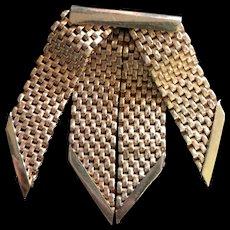 Mesh Ribbon Pin France Vintage